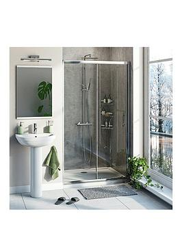 Victoria Plum 6Mm Sliding Shower Door With Tray And Waste 1000 X 800