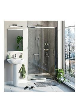 Victoria Plum 6Mm Sliding Shower Door With Tray And Waste 1200 X 800
