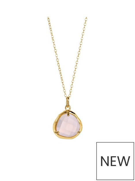 love-gem-gold-plated-silver-rose-quartz-crystal-pendant-18-inch-chain