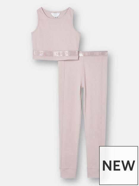 river-island-girls-ribbed-crop-and-legging-set-pink