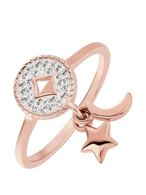 evoke-evoke-sterling-silver-rose-gold-plated-crystal-crescent-moon-and-star-round-charm-ring