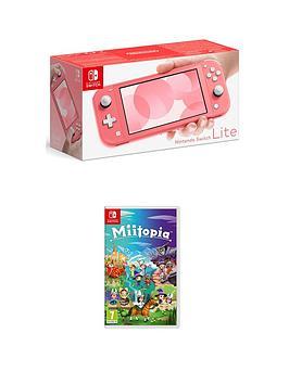 Nintendo Switch Lite Console With Miitopia