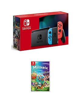 Nintendo Switch Nintendo Switch Console With Miitopia