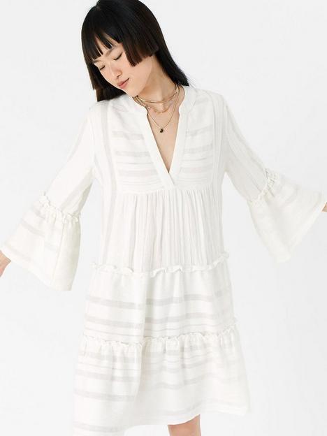 accessorize-accessorize-white-jacquard-flute-sleeve-dress