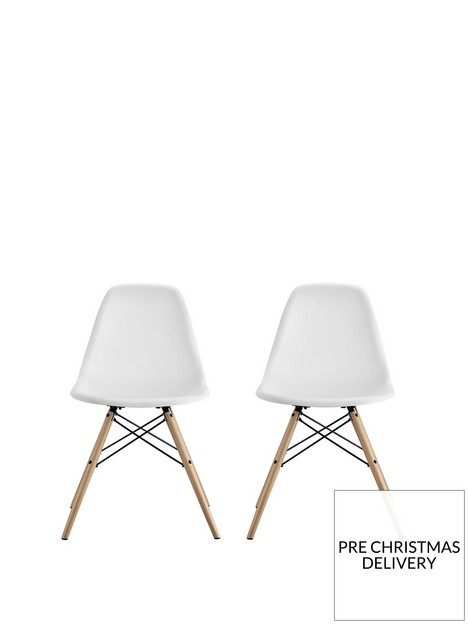 cosmoliving-by-cosmopolitan-mid-century-modern-molded-chair-white-set-of-2