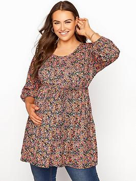yours-bump-it-up-maternity-ditsy-top-with-belt