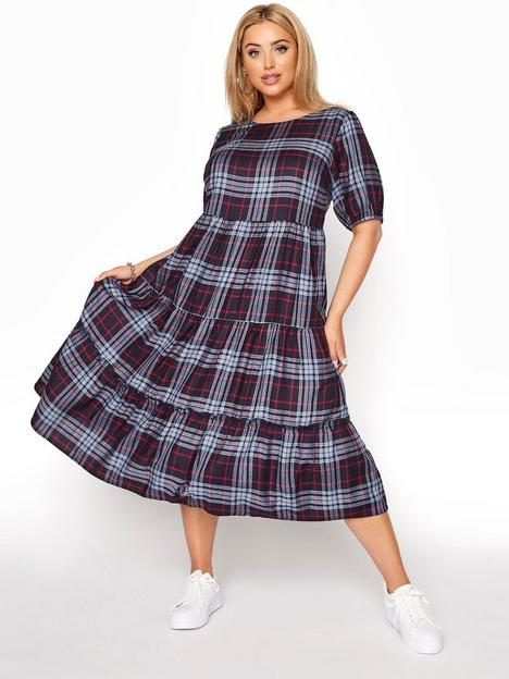 yours-yours-clothing-tiered-midaxi-dress-navyred-check