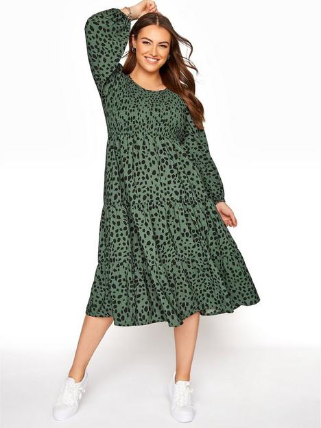 yours-yours-clothing-balloon-sleeve-shirred-dalmatian-dress-sage
