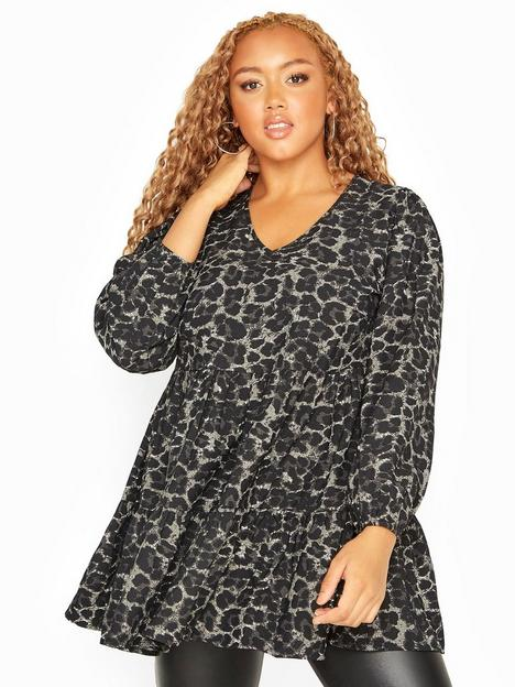 yours-yours-clothing-tiered-smock-long-sleeve-blouse-animal