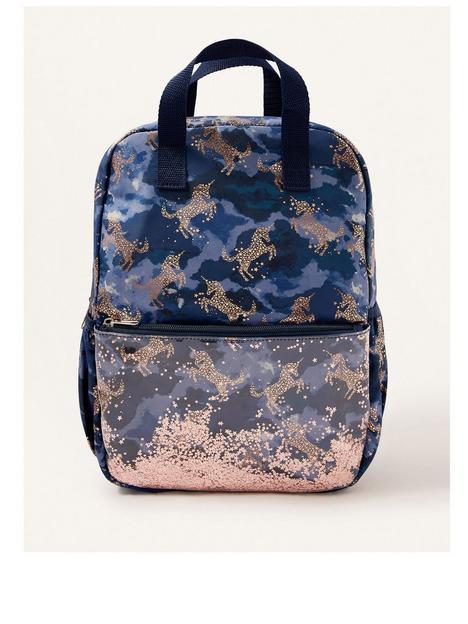 monsoon-girls-nova-cloud-unicorn-shaker-backpack-navy