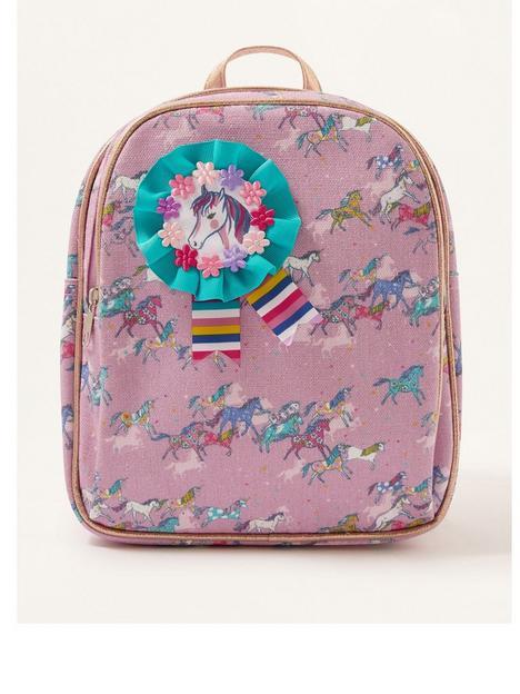monsoon-girls-show-pony-rosette-backpack-pink