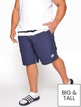 badrhino-cut-and-sew-panel-swim-shorts-navy
