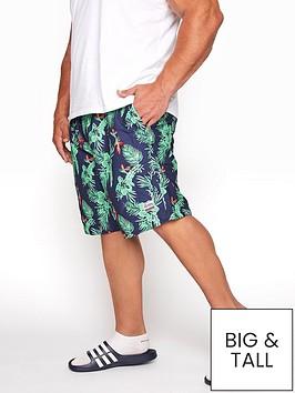 badrhino-hibiscus-panel-swim-shorts-navygreennbsp