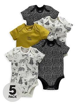 mamas-papas-unisex-baby-5-pack-bodysuits-multi