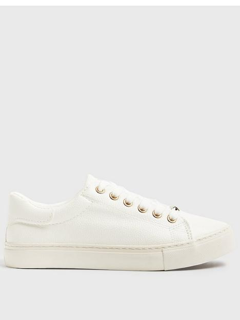 new-look-pu-lace-up-trainers-white