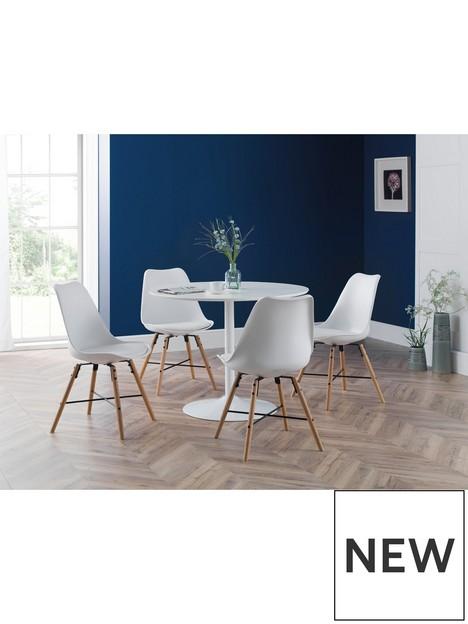 julian-bowen-blanco-round-white-pedestal-table