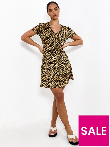 missguided-missguided-half-button-tea-dress-short-sleeve--nbsprose