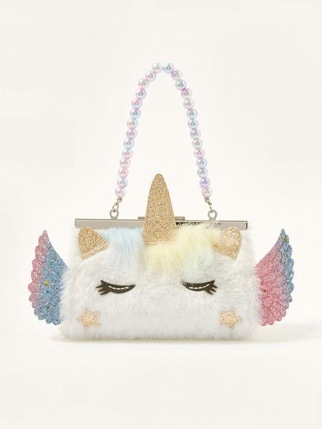 monsoon-girls-fluffy-unicorn-mini-bag-ivory
