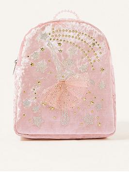 monsoon-girls-stardust-velvet-ballerina-backpack-pink