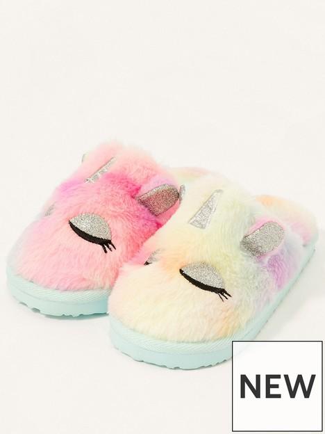 monsoon-girls-unicorn-ombre-slipper-sliders-multi