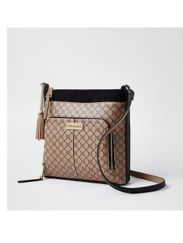 river-island-zip-pocket-front-messenger-bag-brown