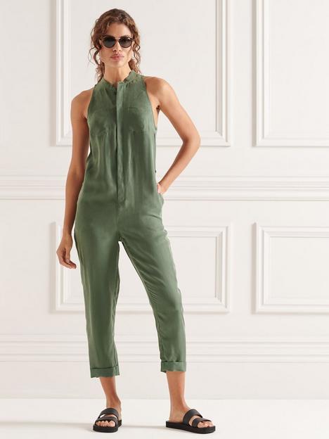 superdry-cupro-sleeveless-jumpsuit-green