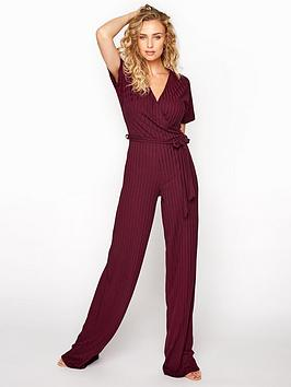 long-tall-sally-long-tall-sally-ribbed-wrap-front-jumpsuit