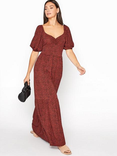 long-tall-sally-long-tall-sally-polka-dot-ruched-midaxi-dress