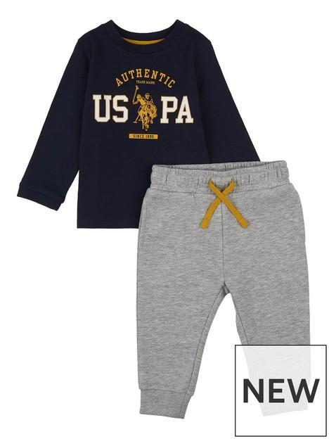 us-polo-assn-toddler-boys-rider-graphic-long-sleeve-t-shirt-jog-set-navy