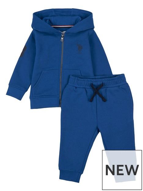 us-polo-assn-toddler-boys-player-3-zip-through-hoodie-jog-set-blue