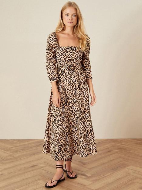 monsoon-angelina-animal-square-neck-dress