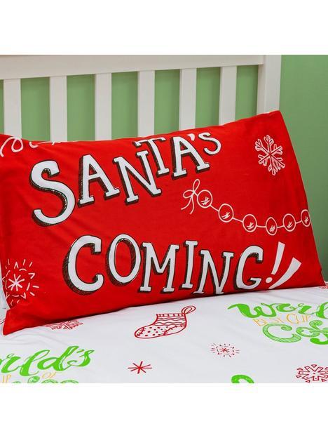elf-christmasnbspsnowflakes-singlenbspduvet-covernbspset