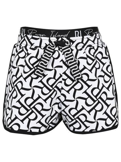 river-island-girls-printed-waistband-shorts-whiteblack