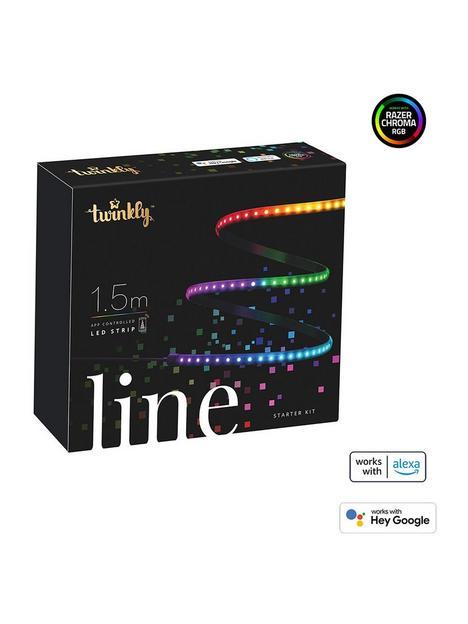 twinkly-linenbspsmart-led-light-strip-multiple-colour--nbsp100l-rgb-light-line-15mnbspstarter-black-btwifi-gen-ii-ip20