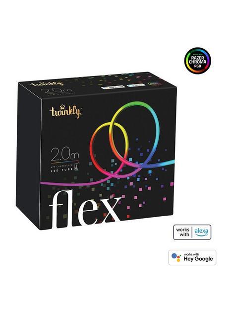 twinkly-flex-smart-flexible-led-light-strip-multiple-colour--nbsp200l-rgb-light-flex-3m-starter-black-btwifi-gen-ii-ip20