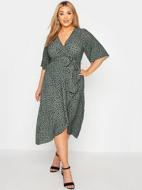 yours-yours-dalmatian-wrap-dress-green