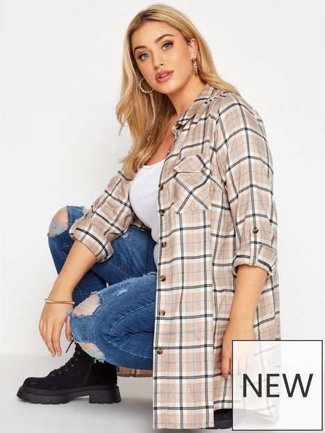 yours-longline-check-shirt-natural