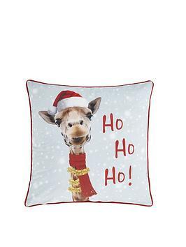 catherine-lansfield-christmas-giraffe-filled-cushion