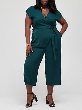 ax-paris-curve-wrap-culotte-jumpsuit-teal