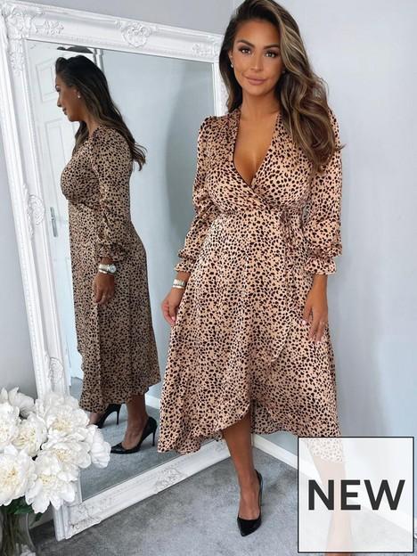 ax-paris-animal-print-wrap-midi-dress-print