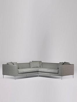 Swoon Alena 5 Seater Fabric Corner Sofa - Soft Wool