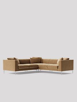 Swoon Alena Fabric 5 Seater Corner Sofa - Easy Velvet