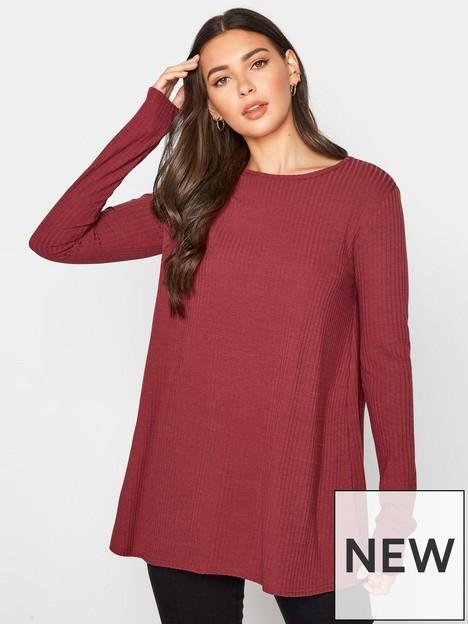 long-tall-sally-long-sleeve-swing-rib-top-pink