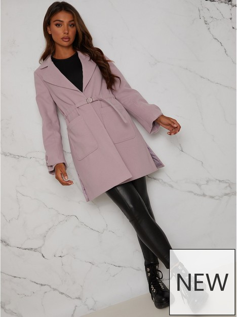 chi-chi-london-chi-chi-structured-coat-with-bow-sleeves-and-belt-detail