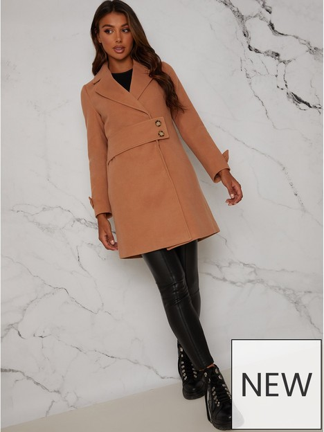 chi-chi-london-chi-chi-structured-coat-with-button-up-waist-panel