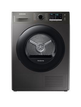 Samsung Series 5 Dv90Ta040Ax/Eu With Optimaldry 9Kg Heat Pump Tumble Dryer, A++ Rated  Graphite