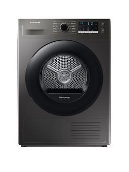 Samsung Series 5 Dv80Ta020Ax/Eu With Optimaldry 8Kg Heat Pump Tumble Dryer, A++ Rated  Graphite