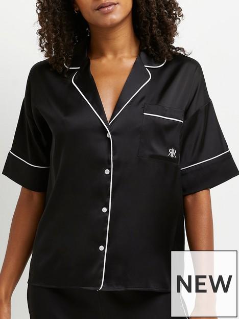 river-island-pyjama-shirt-with-contrast-piping-black