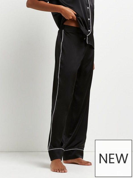 river-island-piped-branded-pyjama-trouser-black
