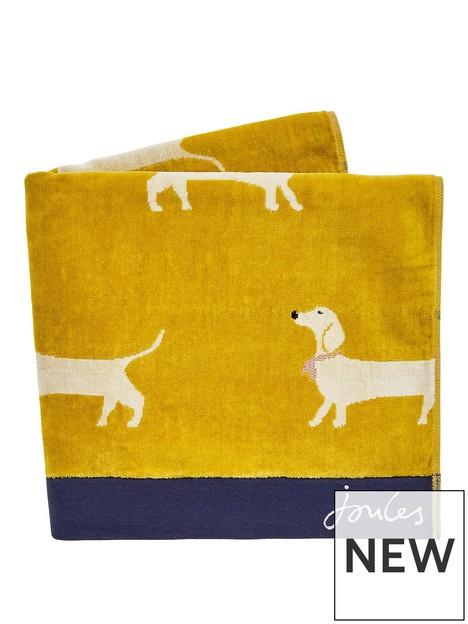 joules-sausage-dogs-towel-range-gold